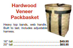 picture of hardwood veneer basket