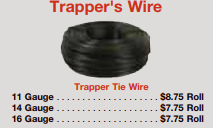 picture of trappers wire