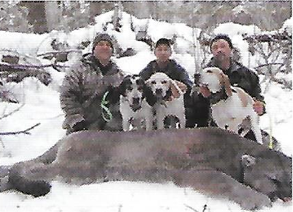 Wes Griesbach, hunter, Dillon Hots, guide, Byron Stewert, outfitter